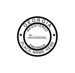 Georgia Registered Engineer Seal