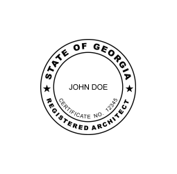 Georgia Registered Architect Seal