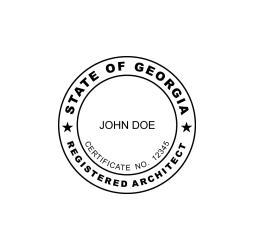 Georgia Registered Architect Seal