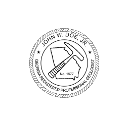 Georgia Registered Geologist Seal