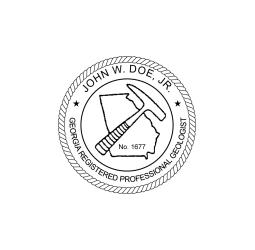 Georgia Registered Geologist Seal