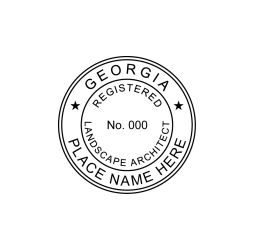 Georgia Registered Landscape Architect Seal