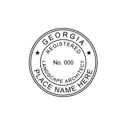 Georgia Registered Landscape Architect Seal