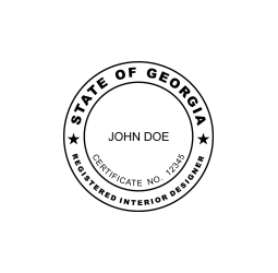 Georgia Registered Interior Designed Seal
