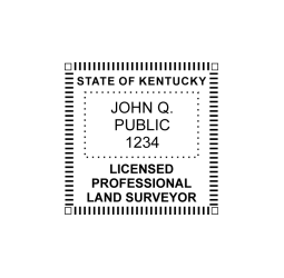 Kentucky Professional Land Surveyor Seal