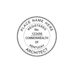 Kentucky Professional Architect Seal