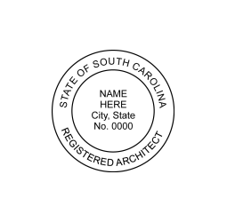 South Carolina Registered Architect Seal