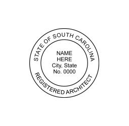 South Carolina Registered Architect Seal