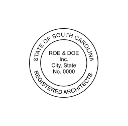 South Carolina Registered Corporate Architects Seal