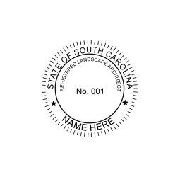South Carolina Landscape Architect Seal