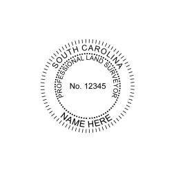 South Carolina Professional Land Surveyor Seal