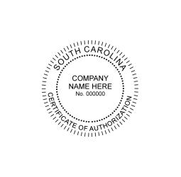 South Carolina Certificate of Authorization Seal