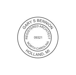 North Carolina Registered Architect Seal