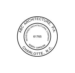 North Carolina Registered Architect Company Seal