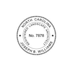North Carolina Registered Landscape Architect Seal