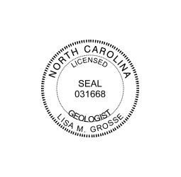 North Carolina Licensed Geologist Seal