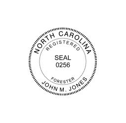 North Carolina Registered Forester Seal