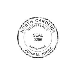 North Carolina Registered Sanitarian Seal