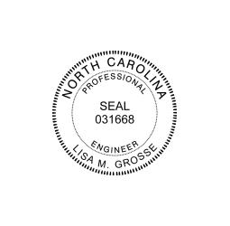 North Carolina Professional Engineer Seal