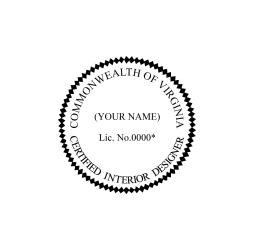 Virginia Certified Interior Designer Seal