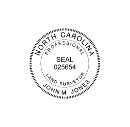 North Carolina Professional Land Surveyor Seal