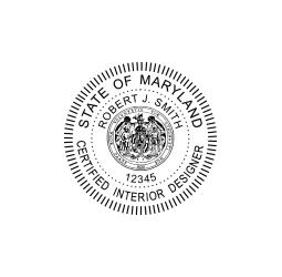 Maryland Certified Interior Designer Seal