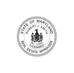 Maryland Real Estate Appraiser Seal