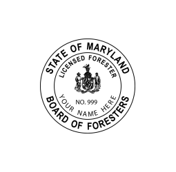 Maryland Board of Foresters Seal