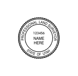 Utah Professional Land Surveyor Seal