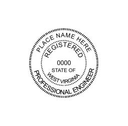 West Virginia Professional Engineer Seal