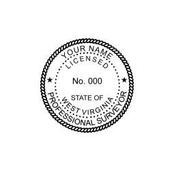 West Virginia Licensed Land Surveyor Seal