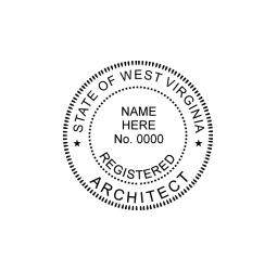 West Virginia Registered Architect Seal
