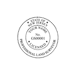 New Jersey Professional Land Surveyor Seal