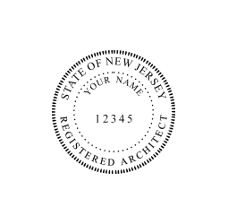 New Jersey Registered Architect Seal