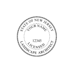 New Jersey Licensed Landscape Architect Seal