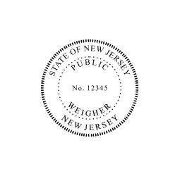 New Jersey Public Weigher Seal