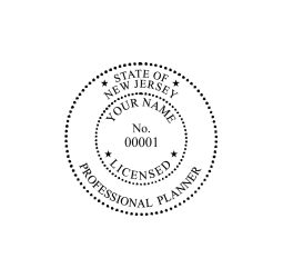 New Jersey Professional Planner Seal
