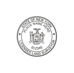 New York Licensed Land Surveyor Seal
