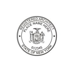 New York Registered Architect Seal