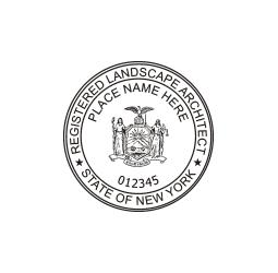 New York Registered Landscape Architect Seal