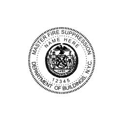 New York Master Fire Suppression Seal