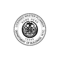 New York Licensed Master Plumber Seal