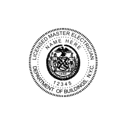 New York Licensed Master Electrician Seal