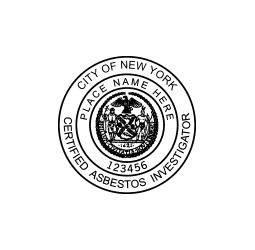 New York Certified Asbestor Investigator Seal