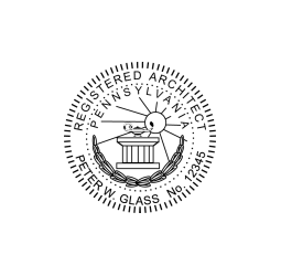 Pennsylvania Registered Architect Seal