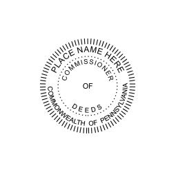 Pennsylvania Commissioner of Deeds Seal