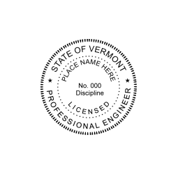 Vermont Professional Engineer Seal