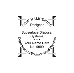 New Hampshire Subsurface Disposal System Designer Seal