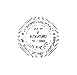 New Hampshire Licensed Architect Seal
