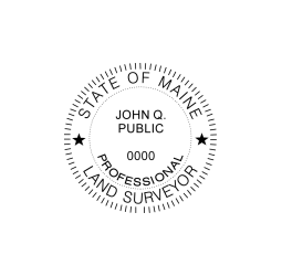 Maine Professional Land Surveyor Seal
